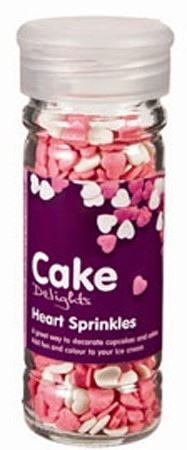 Cake Decoraties Heart Sprinkles 100ml