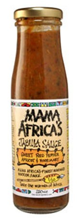 Mama Africa's Sweet Red Pepper, Apricot & Rosemary Jabula Sauce 250ml