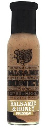 Sussex Valleys Balsamic & Honey Vinegar Dressing 240gr